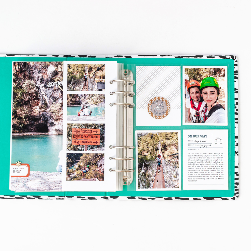 Pocket Scrapbooking Layout Inspiration - Sahin Designs