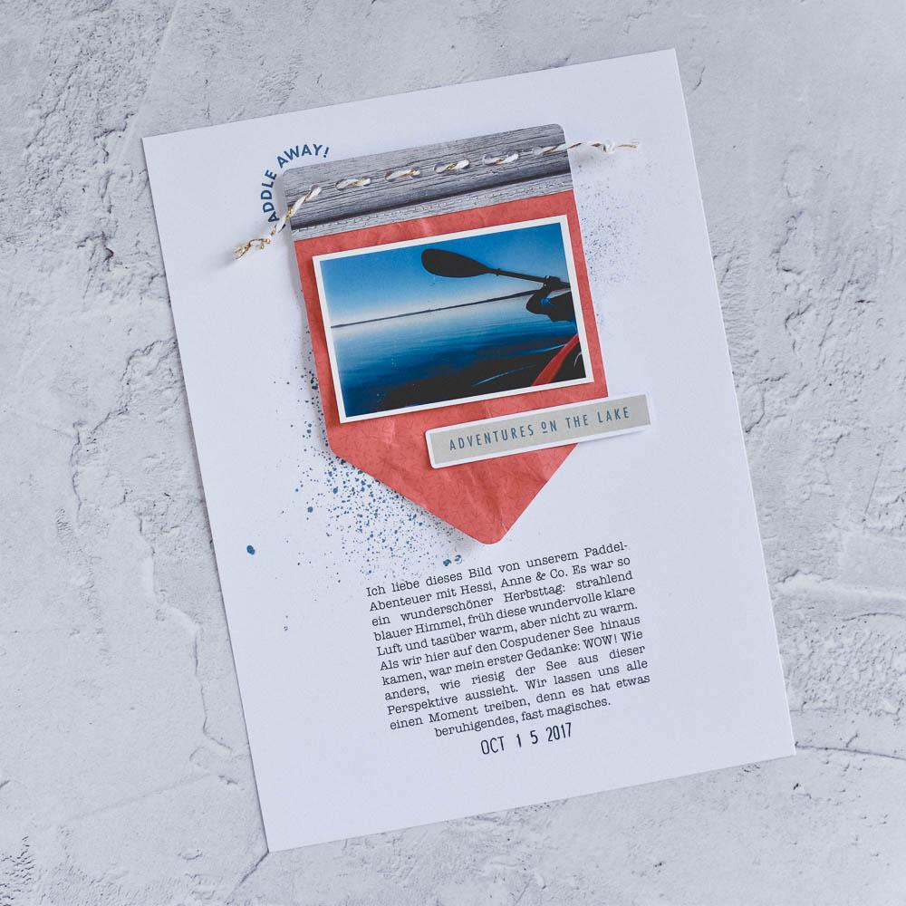 Hybrid Scrapbooking Layout Inspiration - Sahin Designs
