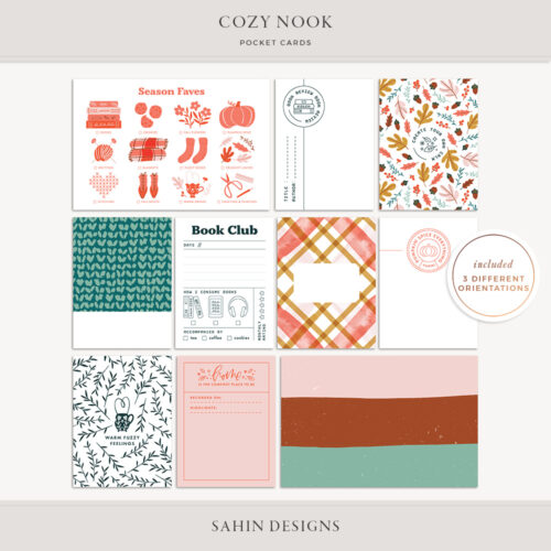 Cozy Nook Printable Pocket Cards - Sahin Designs