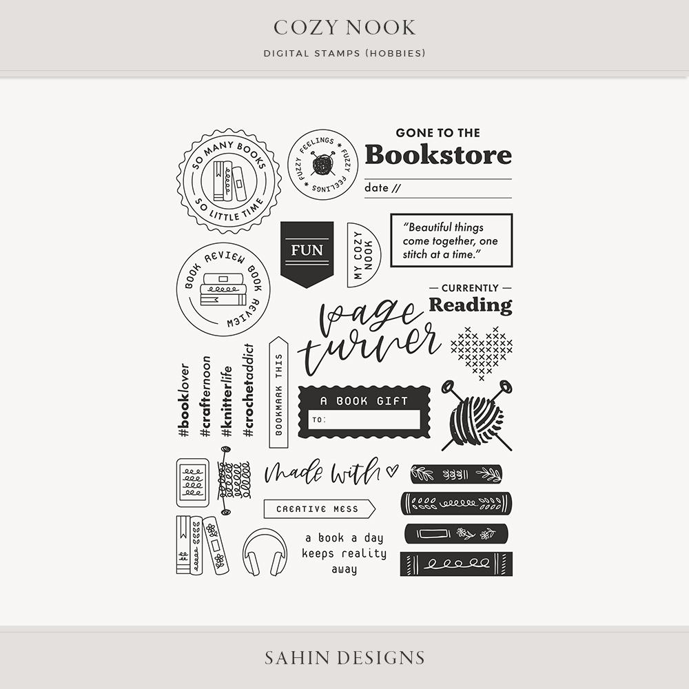 Cozy Nook Hobbies Digital Scrapbook Stamps- Sahin Designs