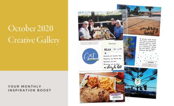 October Creative Scrapbook Gallery 2020 - Sahin Designs