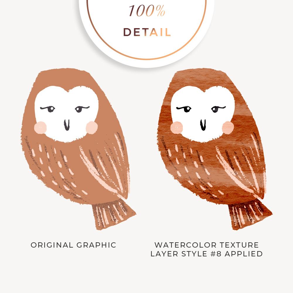 Watercolor Texture Photoshop Layer Styles - Sahin Designs - CU Digital Scrapbook