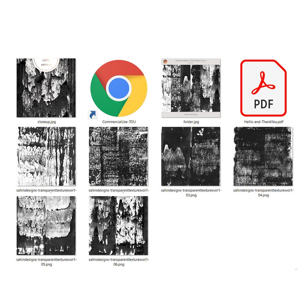 Transparent Textures - Sahin Designs - CU Digital Scrapbook