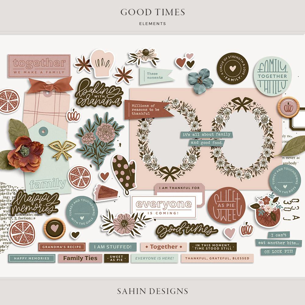 Good Times Digital Scrapbook Elements - Sahin Designs