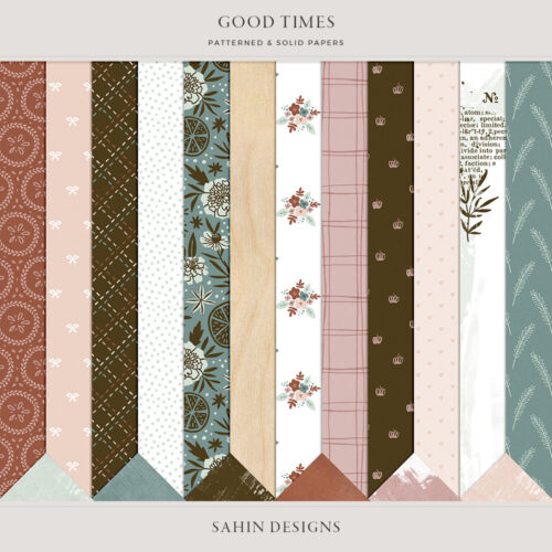 Good Times Digital Scrapbook Papers - Sahin Designs