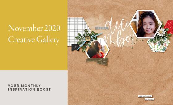 November Creative Scrapbook Gallery 2020 - Sahin Designs
