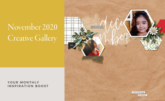 November Creative Scrapbook Gallery 2020 - Sahin Designs