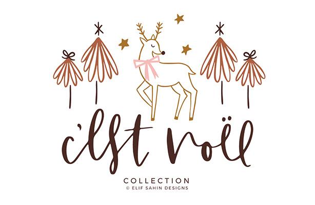 Sahin Designs - C'est Noel - Scrapbook Collection Designs