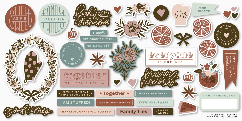Sahin Designs - Good Times - Scrapbook Sticker Designs