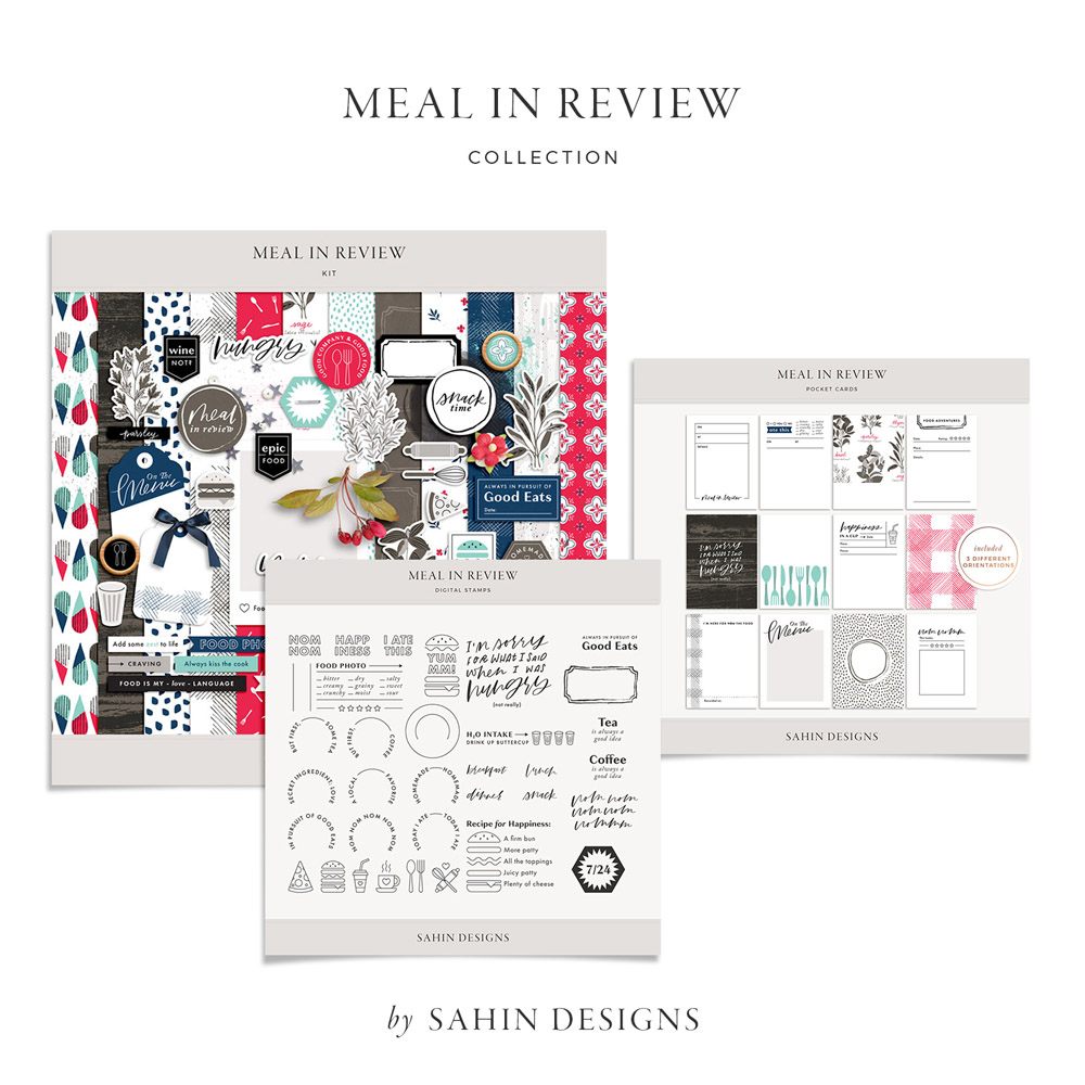 Meal in Review Digital Scrapbook Collection - Sahin Designs