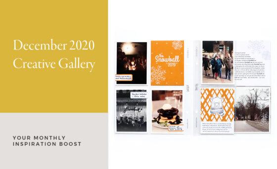 December Creative Scrapbook Gallery 2020 - Sahin Designs