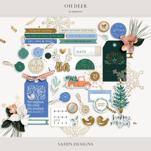 Oh Deer Digital Scrapbook Elements - Sahin Designs