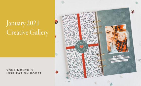 January Creative Scrapbook Gallery 2021 - Sahin Designs