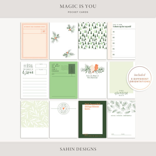 Magic is You Printable Pocket Cards - Sahin Designs