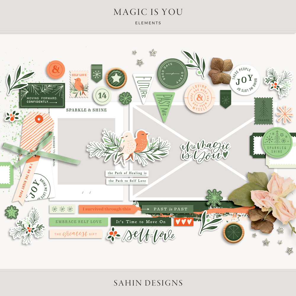 Magic is You Digital Scrapbook Elements - Sahin Designs