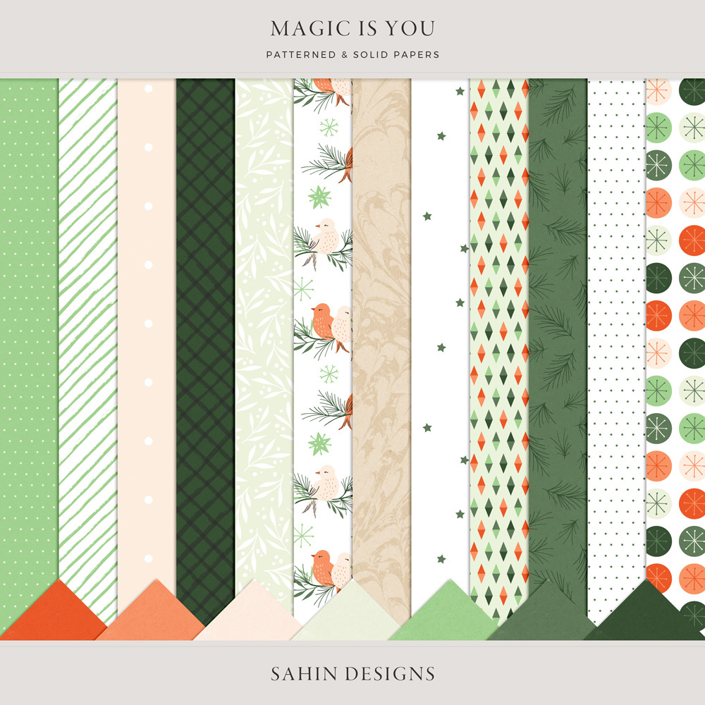Magic is You Digital Scrapbook Stamps - Sahin Designs