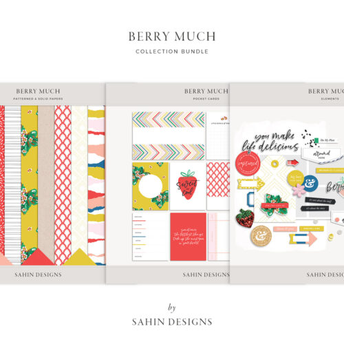Berry Much Digital Scrapbook Bundle - Sahin Designs