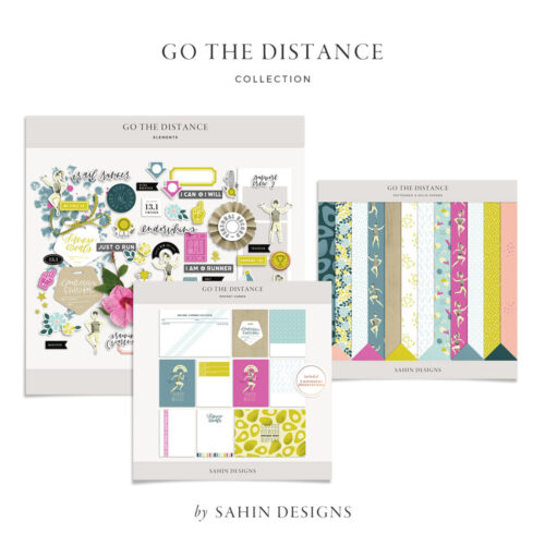 Go the Distance Digital Scrapbook Collection - Sahin Designs