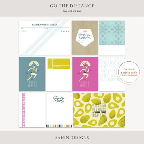 Go the Distance Printable Pocket Cards - Sahin Designs