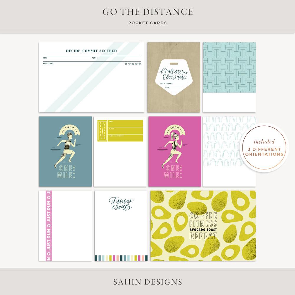 Go the Distance Printable Pocket Cards - Sahin Designs