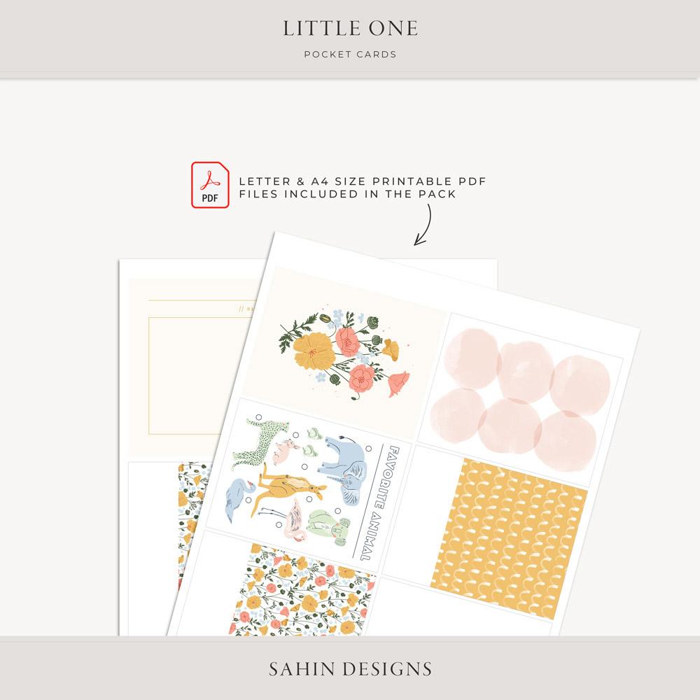 Little One Printable Pocket Cards - Sahin Designs