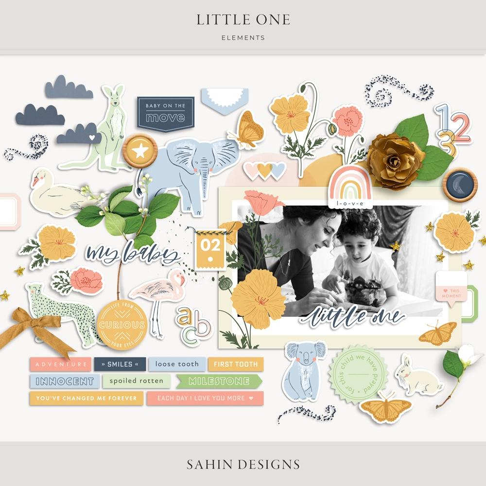 Little One Digital Scrapbook Elements - Sahin Designs