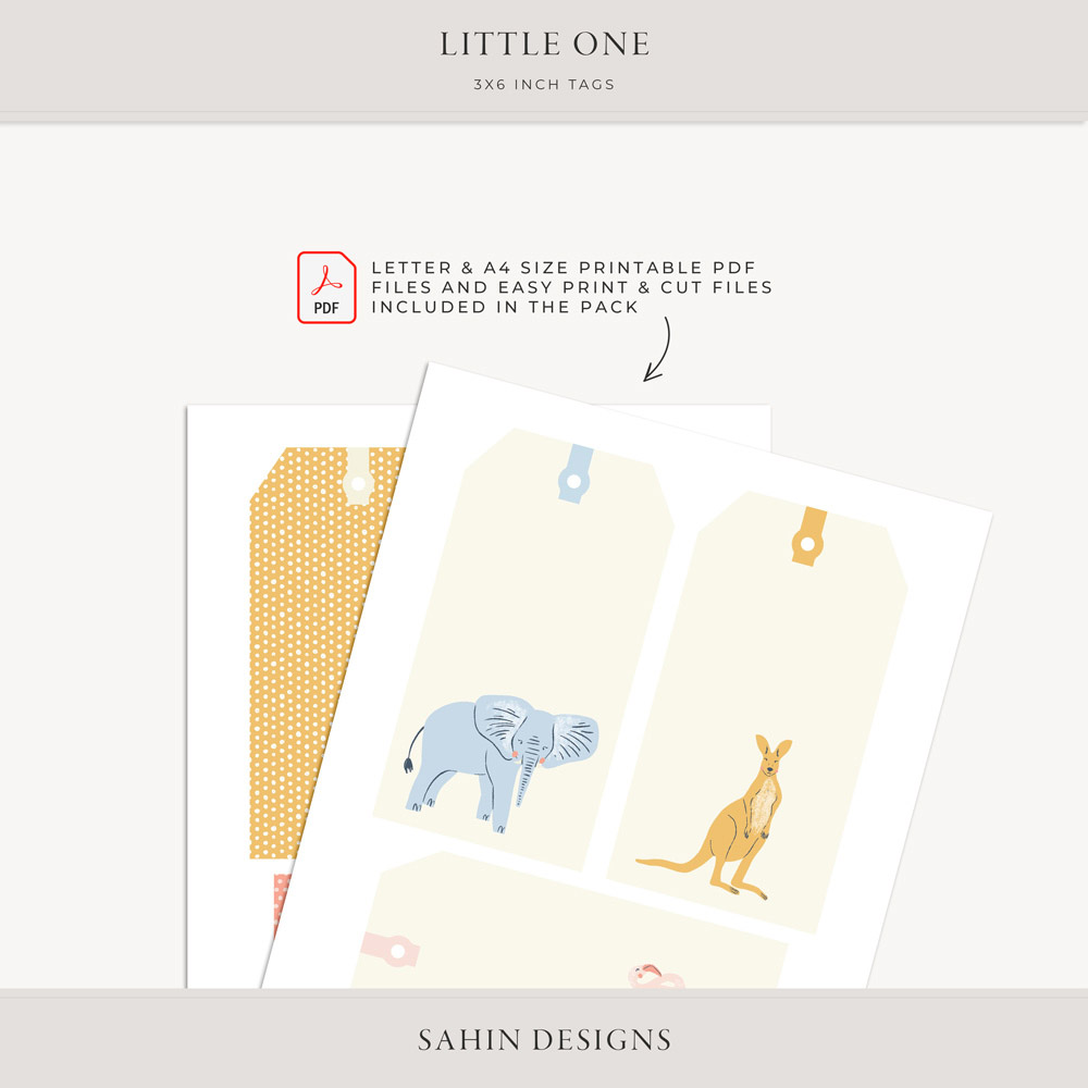 Little One Digital Scrapbook Tags - Sahin Designs