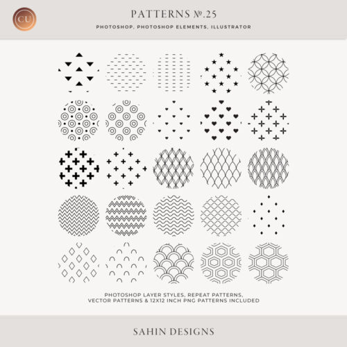 Geometric Repeat Patterns - Sahin Designs - CU Digital Scrapbook