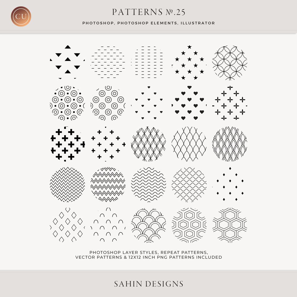 Geometric Repeat Patterns - Sahin Designs - CU Digital Scrapbook
