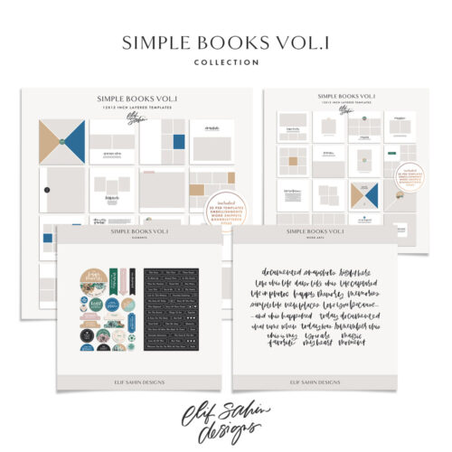 Simple Books Vol.I - Printable Photobook Templates - Sahin Designs