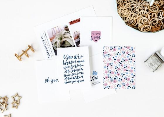Braver Printable Pocket Cards & Templates - Sahin Designs
