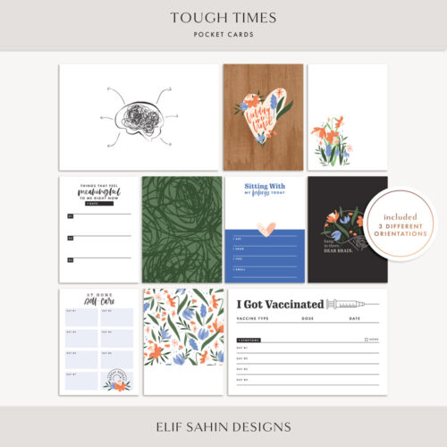 Tough Times Printable Pocket Cards - Sahin Designs