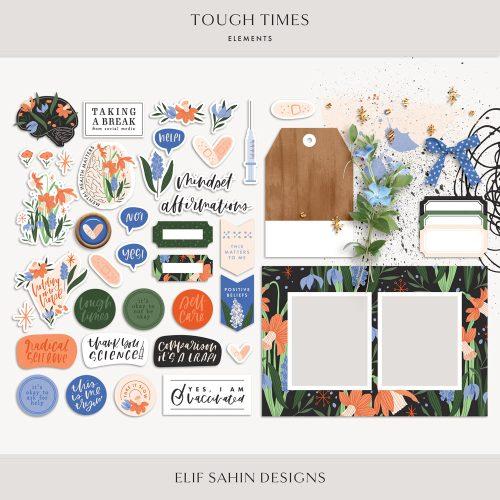 Tough Times Digital Scrapbook Elements - Sahin Designs