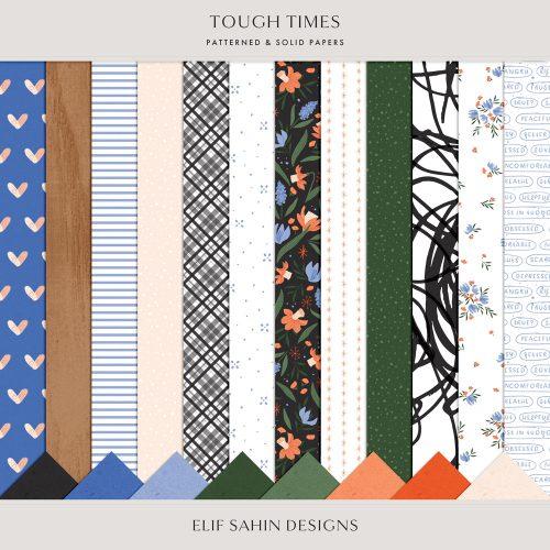 Tough Times Digital Scrapbook Papers - Sahin Designs