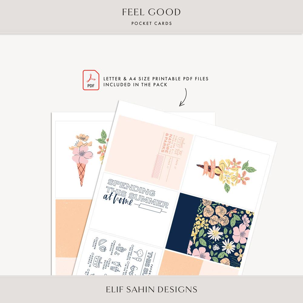 Feel Good Printable Pocket Cards - Sahin Designs