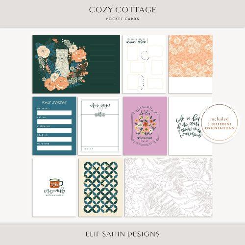Cozy Cottage Printable Pocket Cards - Sahin Designs