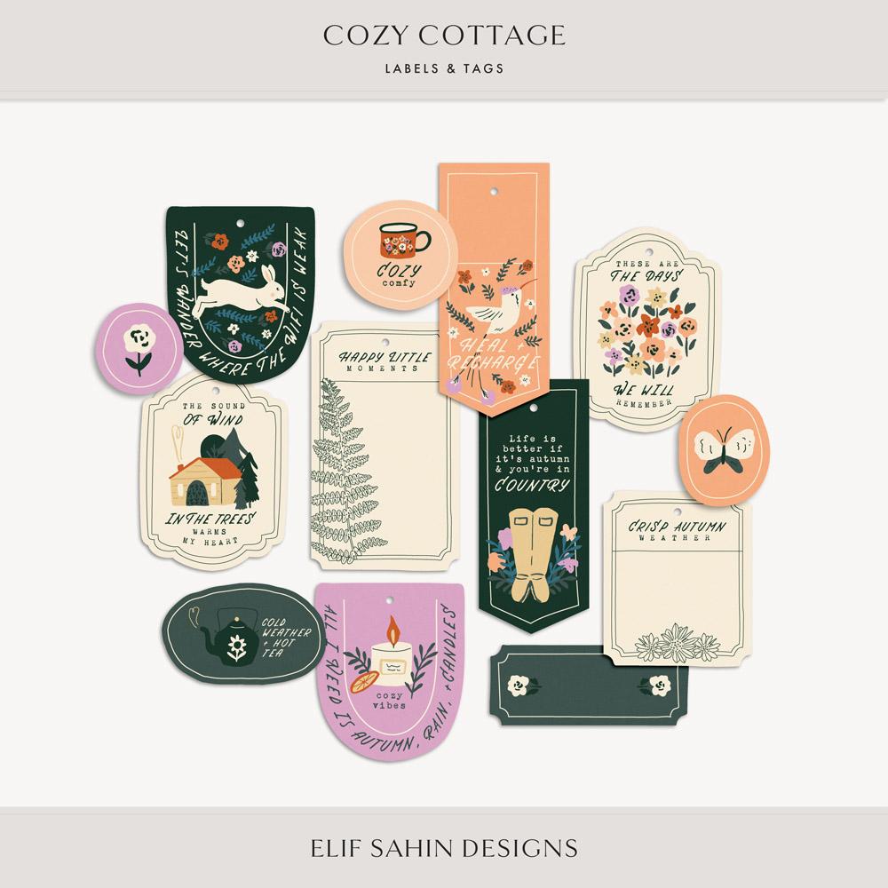 Cozy Cottage Printable Labels & Tags - Sahin Designs