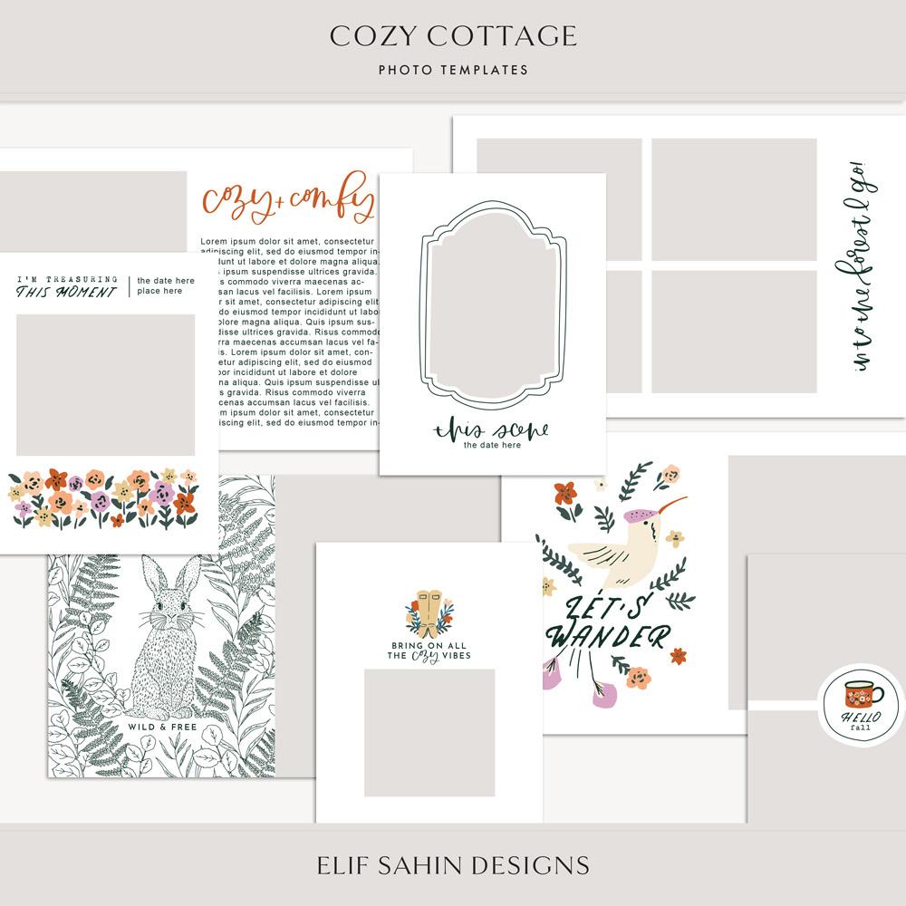 Cozy Cottage Digital Scrapbook Photo Templates - Sahin Designs