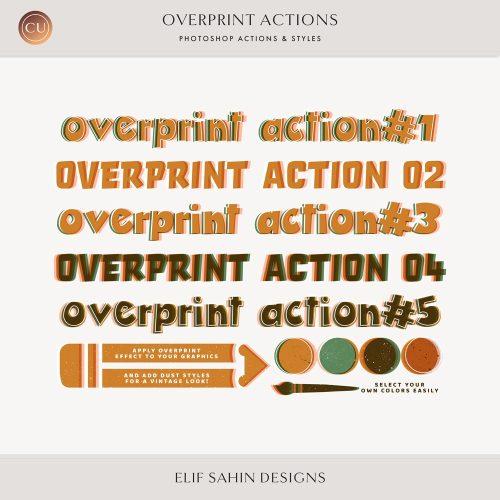 Overprint Photoshop Actions - Sahin Designs - CU Digital Scrapbook