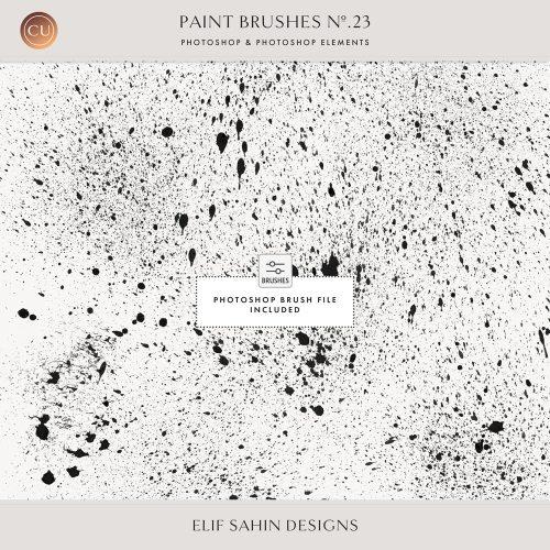 Splatter Ink Photoshop Brushes - Sahin Designs - CU Digital Scrapbook