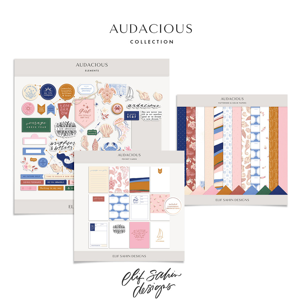 Audacious Digital Scrapbook Collection - Sahin Designs
