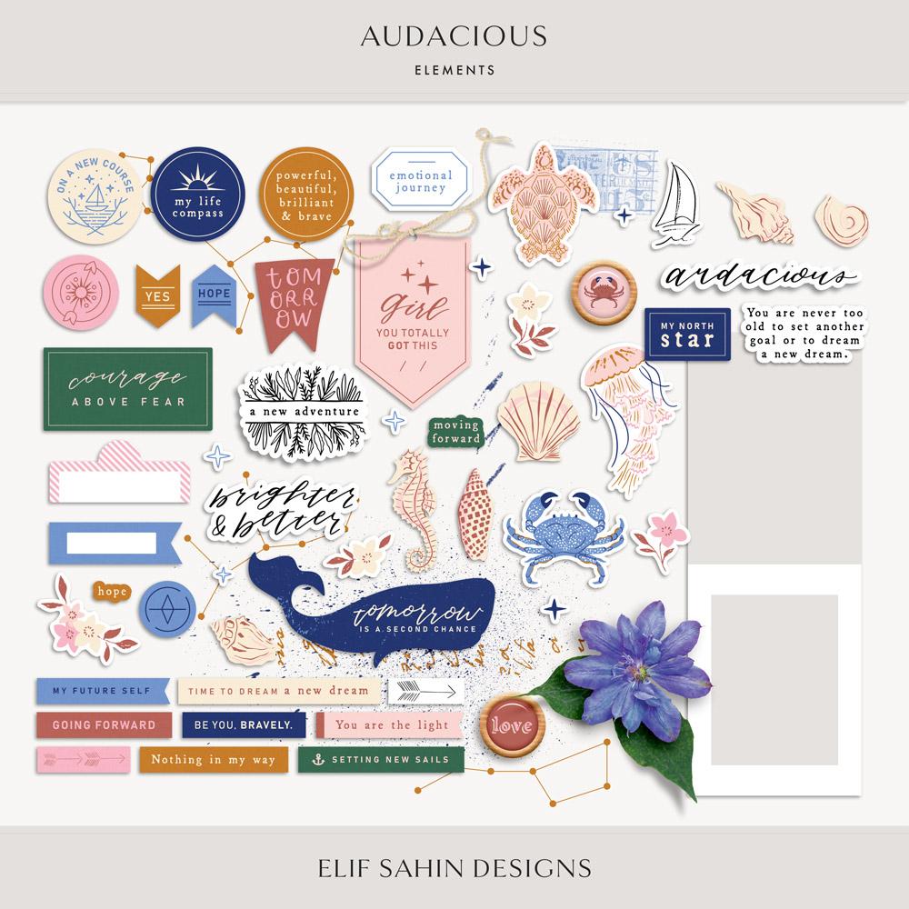 Audacious Digital Scrapbook Elements - Sahin Designs