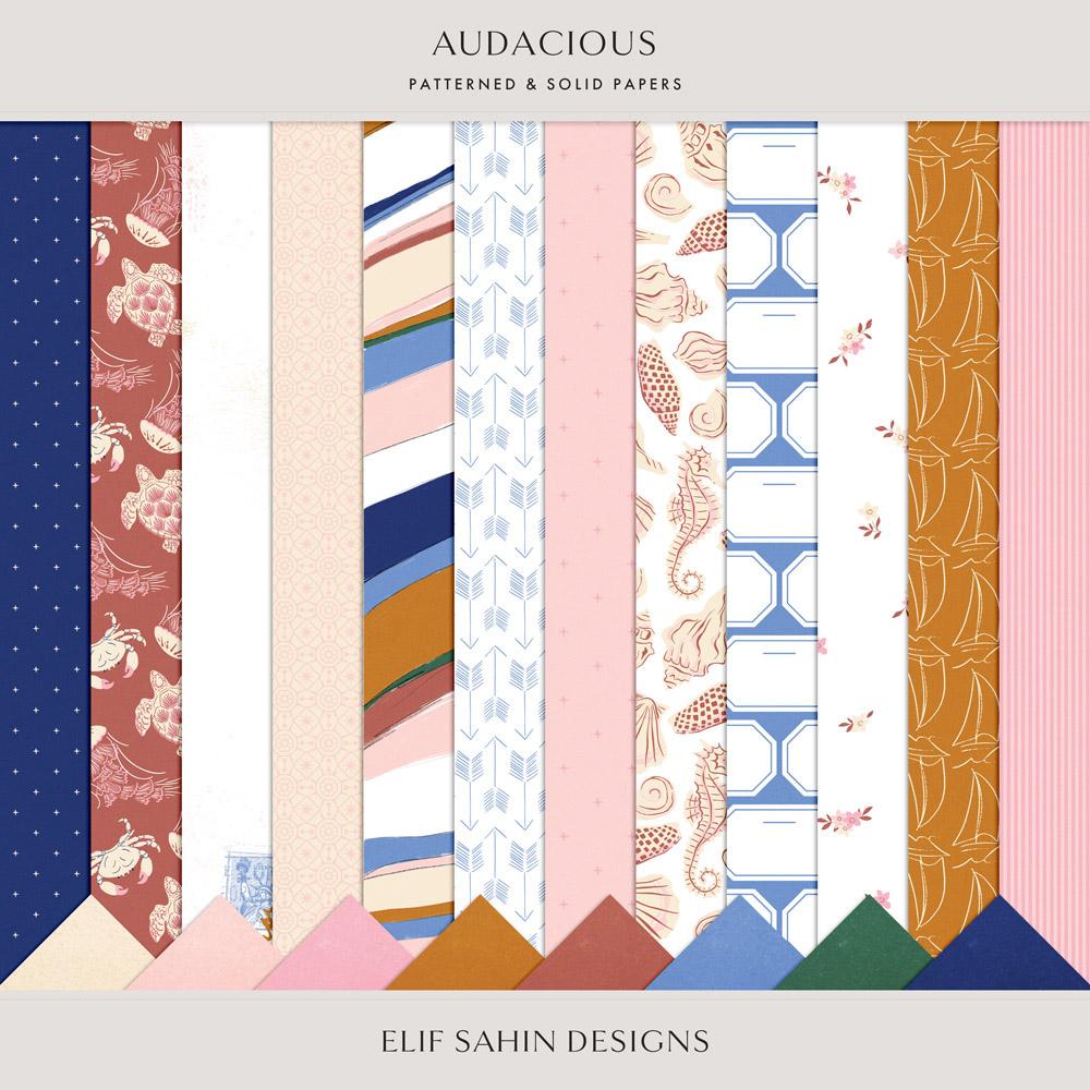 Audacious Digital Scrapbook Papers - Sahin Designs