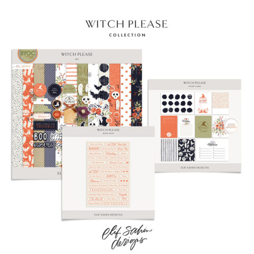 Witch Please Digital Scrapbook Collection - Sahin Designs