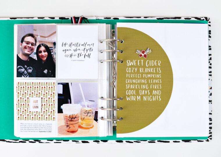 Scrapbook Challenge October 2021 - Sahin Designs